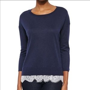 Joie Sweater with Lace Trim Size XS